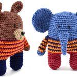 Receita Urso e Elefante Maxi com Fio Amigurumi Maxi