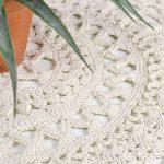 Receita Centro de Mesa de Crochê com Barbante Natural