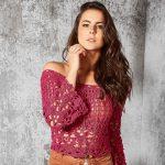 Receita Blusa Pink com Linha Glamour