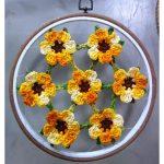 Receita Flores no Bastidor Moldura com Barbantes Barroco