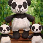 Receita Família Panda com Fio Amigurumi
