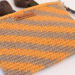 Receita Clutch de Crochê com Ponto Conduzido com Barbante EuroRoma Colorido