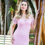 Receita Vestido Longo Rosa com Linha Camila Fashion