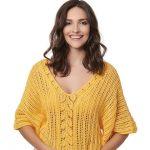 Receita Blusa Amarela com Linha Bella