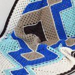 Receita Manta de Crochê Geométrica com Barbante Ecosoft