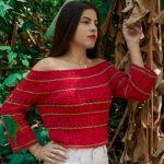 Receita Blusa de Crochê Ciganinha Ombro a Ombro com Linha Fiore