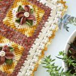 Receita Trilho Premium Flores Coloridas com Barbantes Barroco