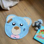Receita Tapete Urso Azul Bebê com Barbante Apolo Eco