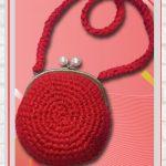 Receita Bolsa de Crochê com Tiras de Malha Premium