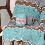 Receita Manta de Crochê com Linha Ecotrama