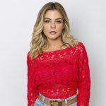Receita Blusa Vermelha com Linha Liza Moda