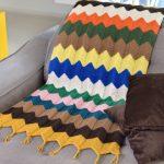 Receita Manta de Crochê Chrevron com Barbante EuroRoma Colorido