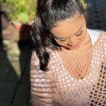 Receita Pelerine Rendada com Fio Mohair