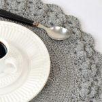 Receita Sousplat de Crochê Grey com Barbante EuroRoma Brilho Prata