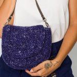 Bolsa de Crochê Clássica com Linha Jeans