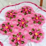 Tapete de Crochê Floral com Barroco Multicolor Premium