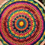 Mandala de Crochê Primavera com Fio Charme