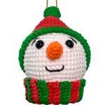 Enfeite de Crochê Boneco de Neve Natalino com Amigurumi