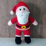 Amigurumi de Crochê Papai Noel com Fio Amigurumi