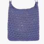 Bolsa de Crochê Azul com Fio Kotini