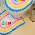 Jogo de Crochê para Banheiro Candy Floral com Barroco
