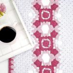 Trilho de Mesa de Crochê Amore com Euroroma Ecosoft