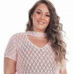 Blusa de Crochê Rosa Antigo com Cléa 5