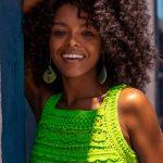 Regata de Crochê Neon com Linha Verano