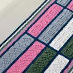 Tapete de Crochê Retângulos Coloridos com Euroroma
