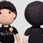Amigurumi Policial com Fio Amigurumi Soft