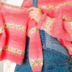 Blusa de Tricô Rosa Infantil com Fio Ame