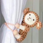 Receita Prendedor de Crochê Para Cortina Ovelha com Fio Amigurumi