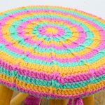 Capa de Crochê Banquinho com Fio Barroco Maxcolor