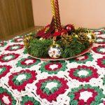 Centro de Mesa de Crochê Mesa de Natal com Barbante Extra