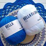 Sousplat de Crochê Azul com Fio Bella Fashion