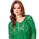 Blusa de Crochê com Barroco Maxcolor