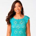 Regata de Crochê Verde Pontas Plus Size com Linha Camila Fashion
